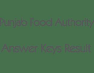 Punjab Food Authority PFA Jobs NTS Test May 2018 Answer