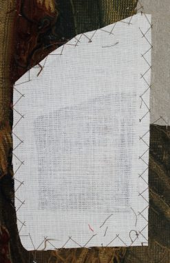 Reverse of patch in tapestry ©National Trust/Textile Conservation Studio
