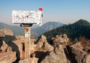 white mail box on mountain