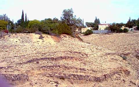 Terraces on the north side of Wadi