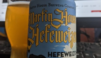 Enjoying a hefeweizen from Martin House while attending Hop Culture's Beer With(out) Beards.