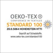 Zertifiziert nach Öko-Tex-Standard 100, Klasse 1