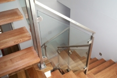 Nu-Lite Balustrading Type Stainless Steel  Stair- Glass balustrade-14