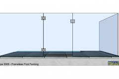 Type 3006 Frameless  Pool Fence