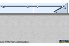 Type 3009-B Frameless  Balustrade