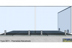 Type 3011 Frameless  Balustrade