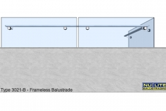 Type 3021-B - Frameless  Balustrade