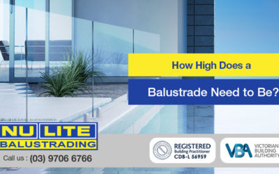 How high does a balustrade need to be?