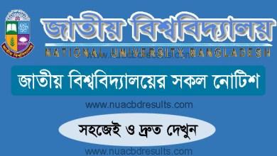 National University Latest NU Notice