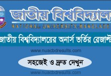 National University Honours Admission Result