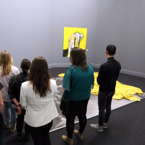 Nua Collective Artist Jennifer Smith - Giving artist talk at Van AbbeMuseum