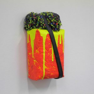 Ciaran Bowen, Flamboyant II, Oil, Silicone, Spray Paint, Paint Skins, Canvas on Expanding Foam, 2020 (2)