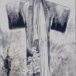 Kimono drypoint etching plate - John Keating - Nua Collective - Artist