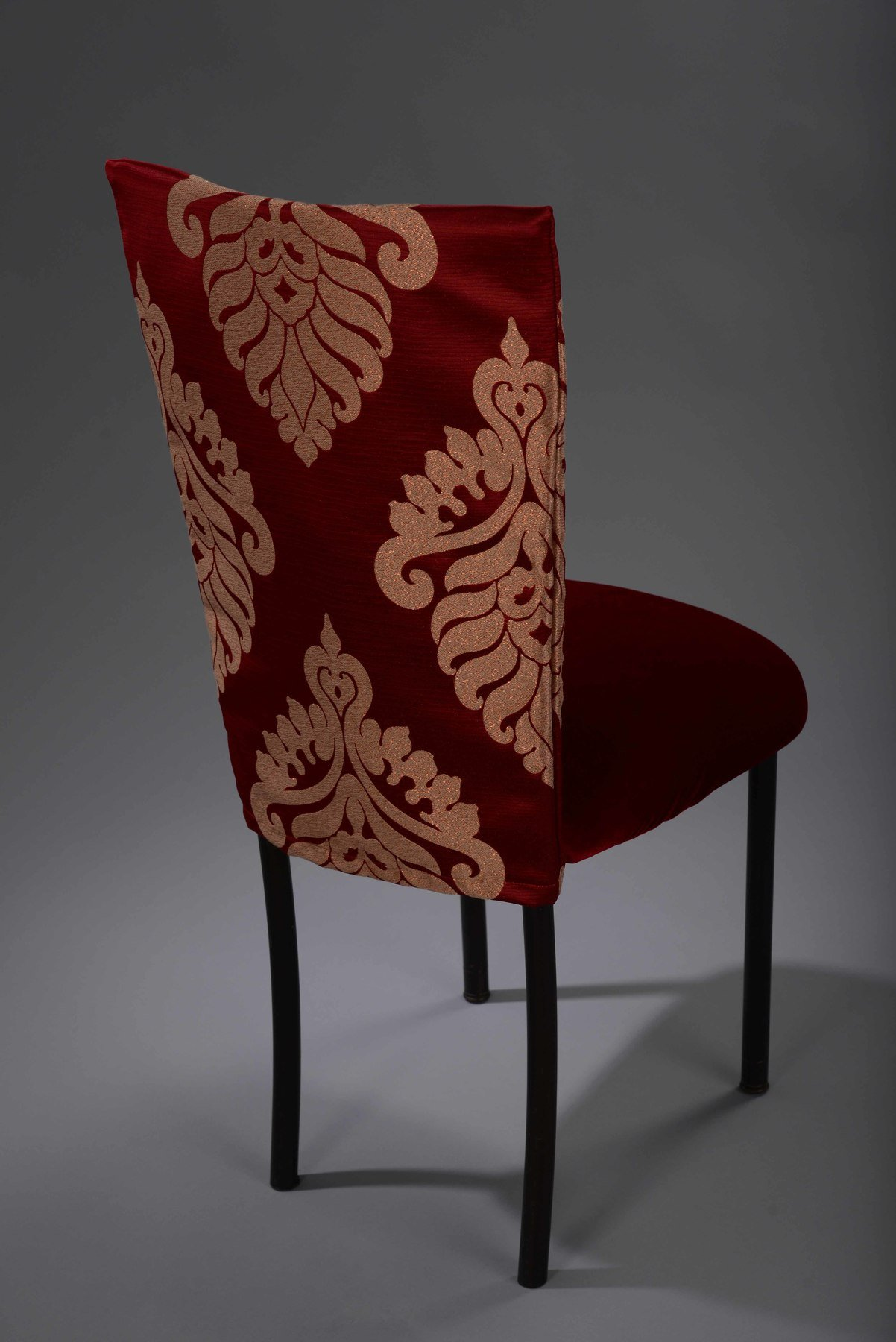 chair cover rental cost beach chairs nice france red metallic medallion chameleon nüage designs