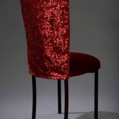 Chair Cover Hire Preston Hair Styling Chairs Red Sequin Taffeta Chameleon Nüage Designs