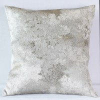 Silver Metallic Forest Pillow - Nage Designs