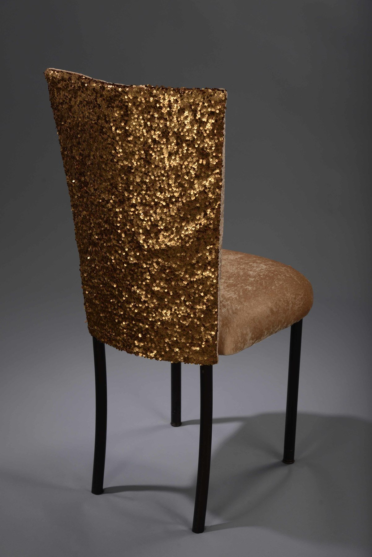 gold sequin chair covers theradapt posture dark taffeta chameleon cover nüage