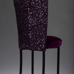 Purple Dining Chair Covers Bariatric Transport 500 Lbs Sequin Taffeta Chameleon Cover Nüage Designs