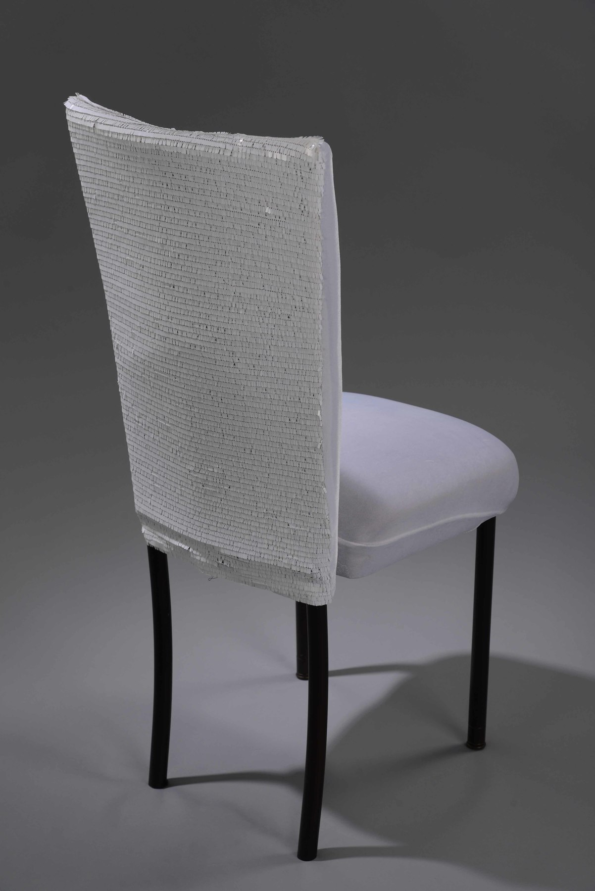 White Allummettes Chameleon  Chair Cover  Nage Designs