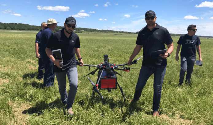 Flytrex & DRS with drone in field