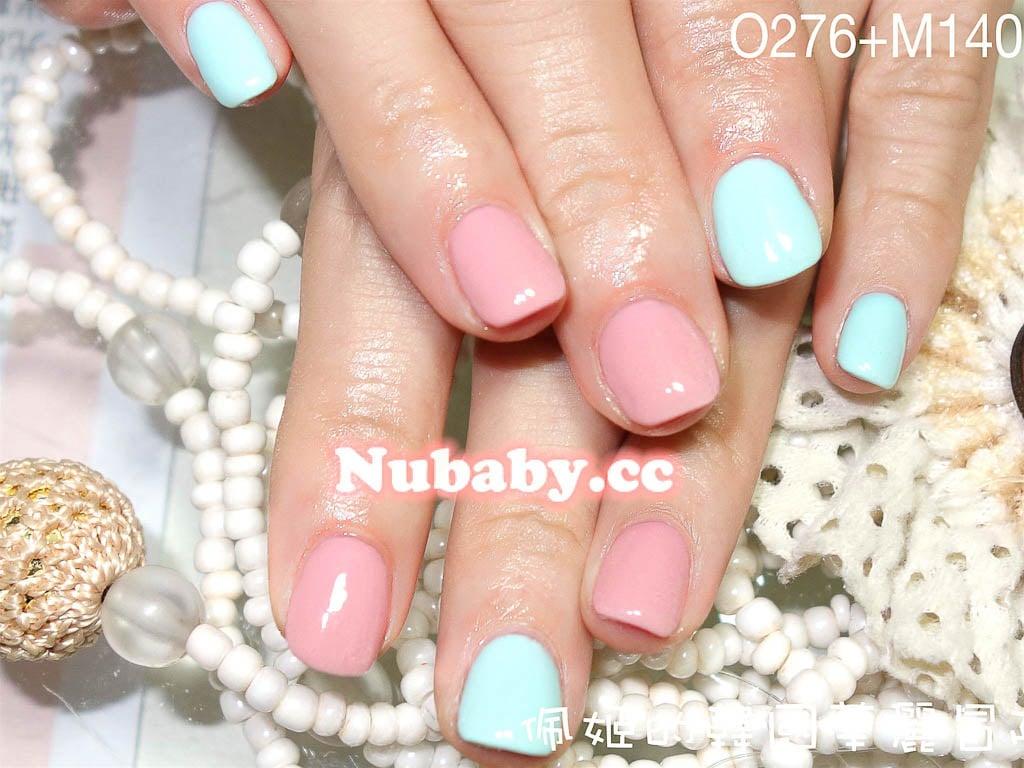滿版設計凝膠指甲-前期美甲作品-妮寶貝-凝膠指甲矯正 天然精油