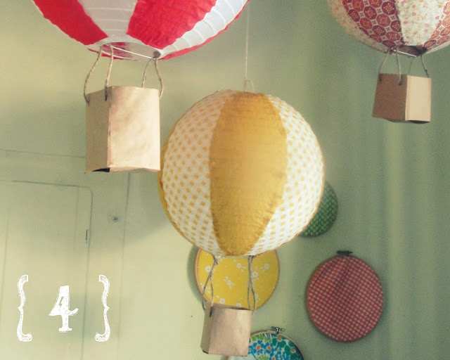 Decora con globos aerostáticos - Paso 4