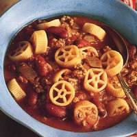 Kid-Friendly Wagon Wheel Soup w/Beef