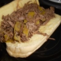 Zesty Italian Beef (slow cooker)