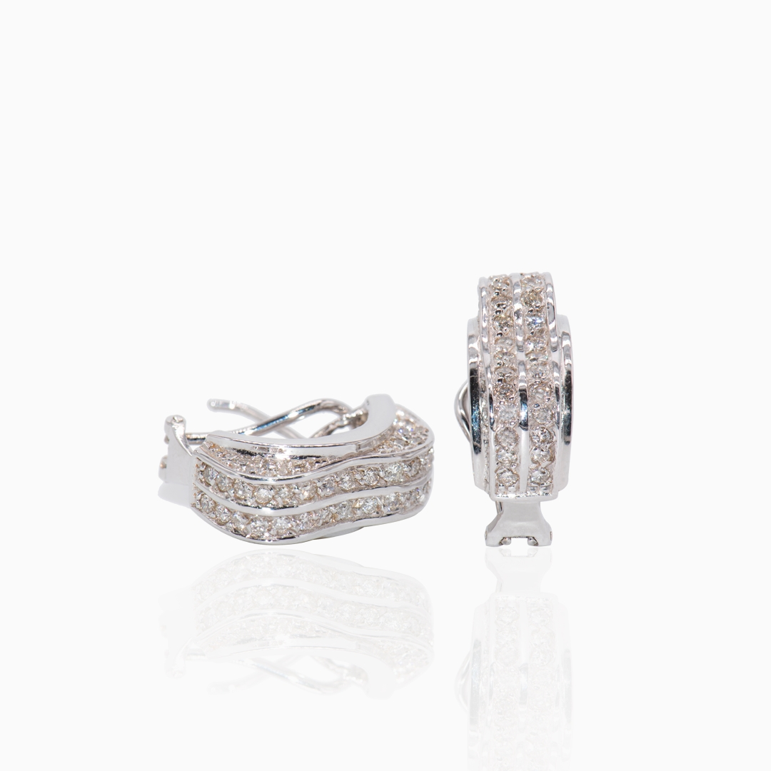Pendientes Oro Blanco con Diamantes