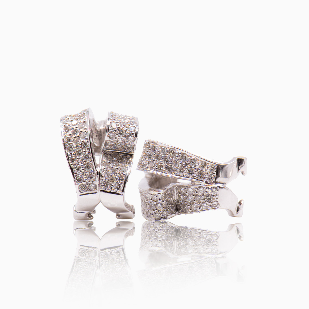 Pendientes Oro Blanco y Diamantes