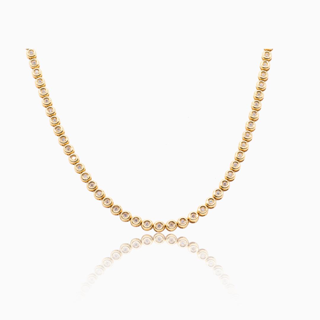 Collar de Oro y Diamantes en chatón