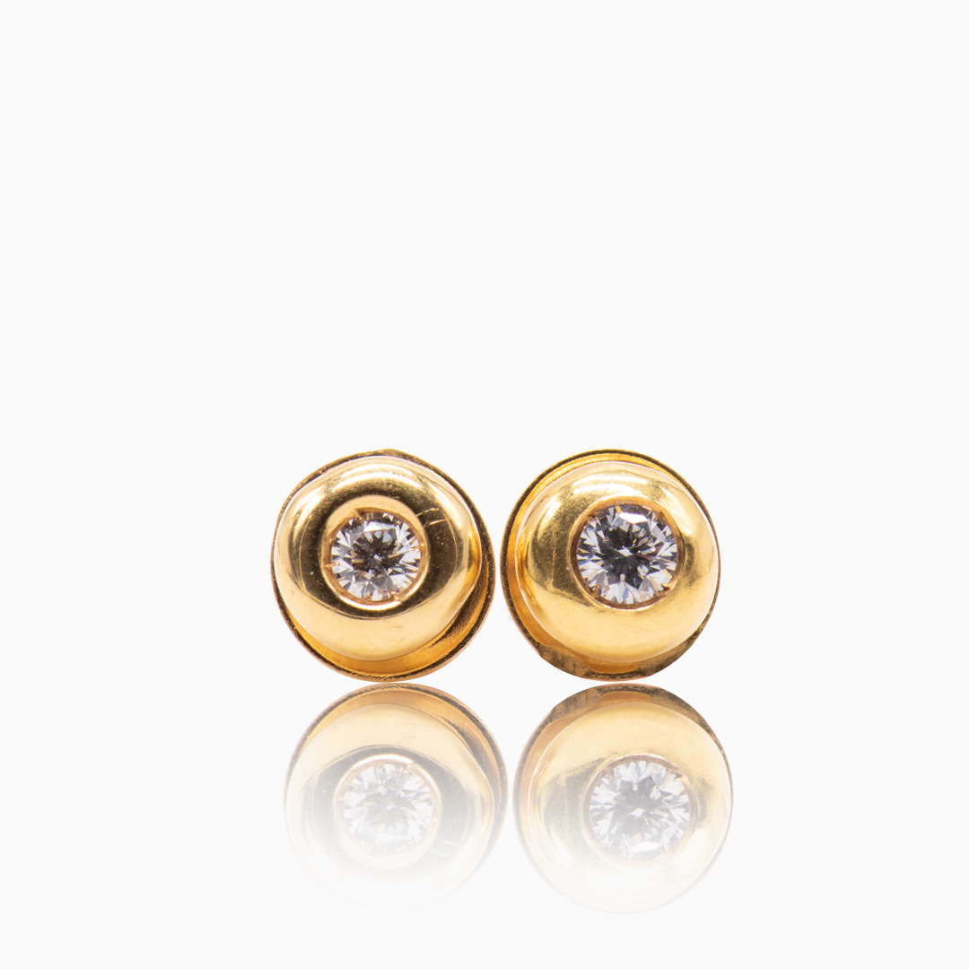 Pendientes de Oro y Diamantes en chatón