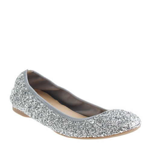 J crew Lula glitter flats holiday winter wardrobe
