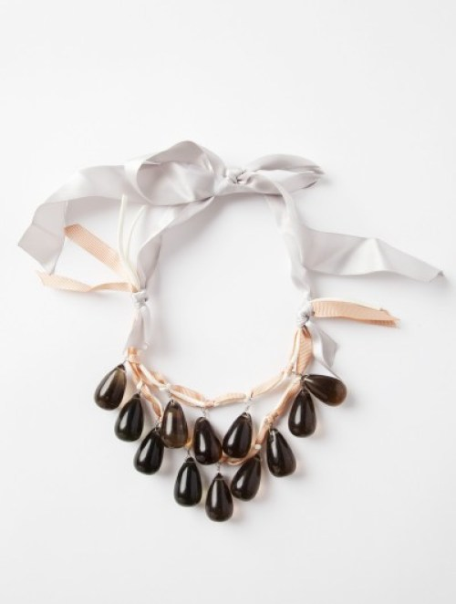 Statement necklace with ribbon tie Loris Shoes holiday jewelry wardrobe spice up
