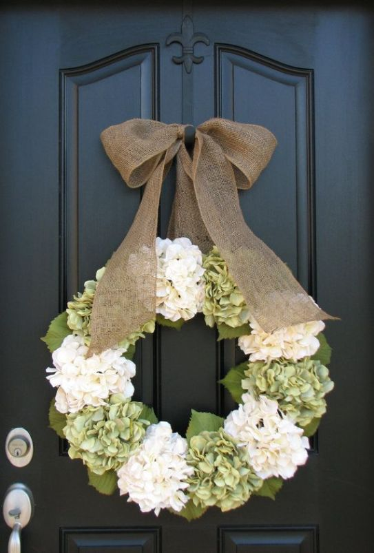 Decorate your front door with a fresh and beautiful summer wreath.