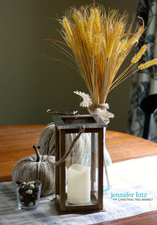 Wheat table centerpiece