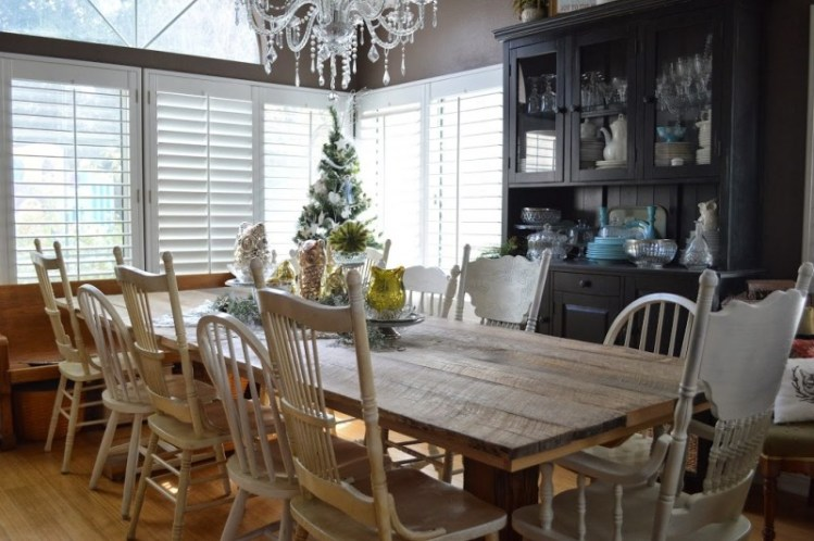 mismatched chairs dining room table