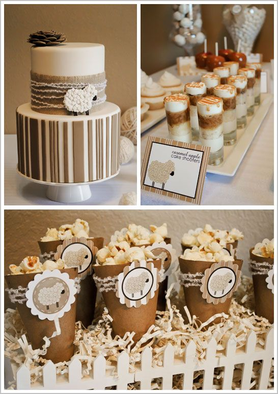 Neutral Colored Baby Shower   Winter Baby Shower Ideas