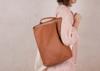 Leather backpack Hibrid brown