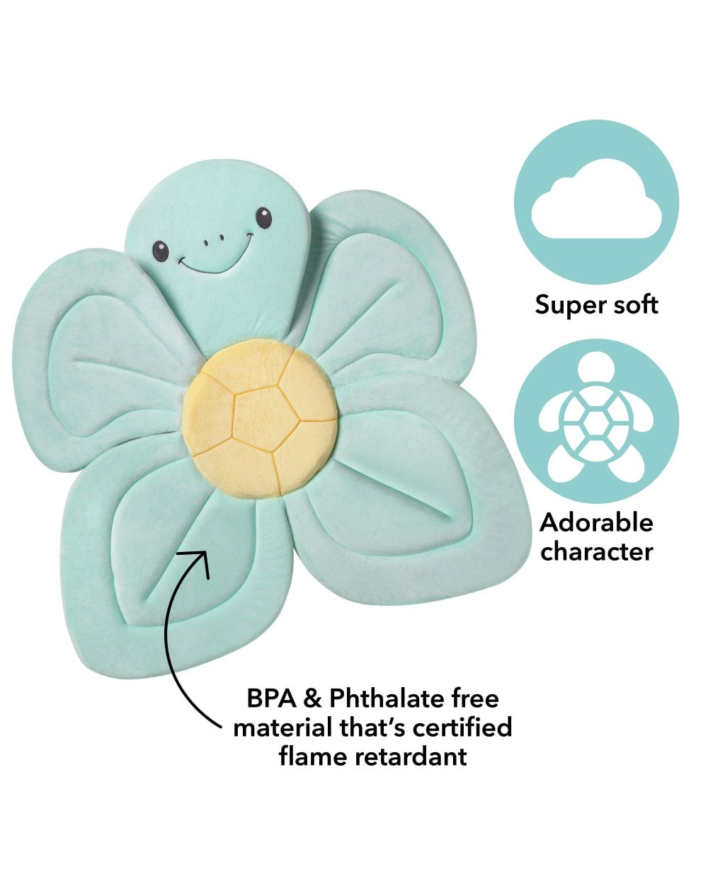 Dr Teal's Baby : teal's, Turtle, Floater, Bathing, Insert, Cushion
