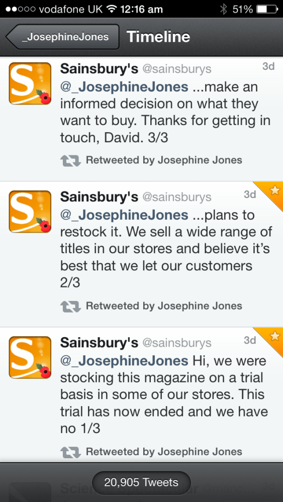 What Doctors Don't Tell You & Sainsburys (1/4)