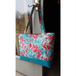 Floral Spring Vegan Leather Tote