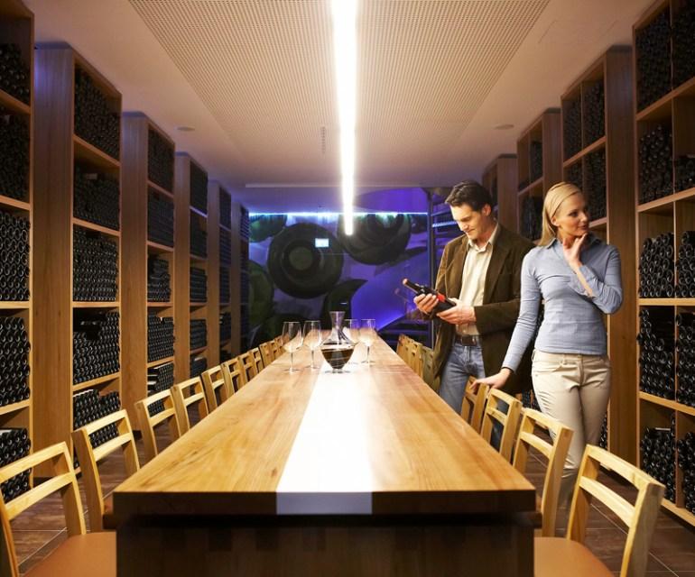 Ein Highlight: der Weinkeller der Alpenrose. © Leading Family Hotel & Resort Alpenrose