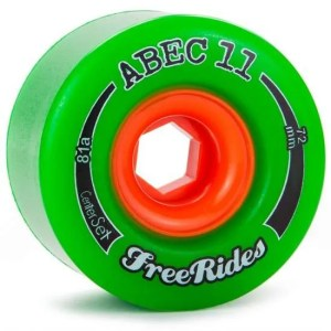 72mm ABEC11 Freeride Green Wheels