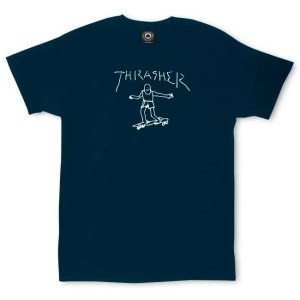 "Thrasher ""Gonz"" Shirt by Mark Gonzalez Navy Small"