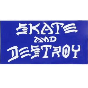 Thrasher Skate And Destroy Sticker Blue