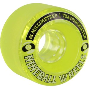 61mm Sector Nine Nineballs Wheels Lime/ White/ Black