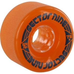 64mm Sector Nine Nineballs Wheels Clear Orange/ Blue