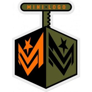 Mini Logo Detonator Sticker 3″