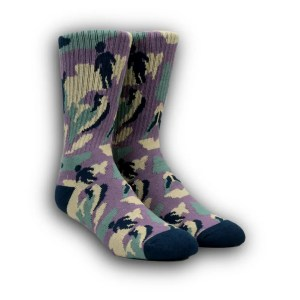 Girl OG Jungle Socks Purple Camo